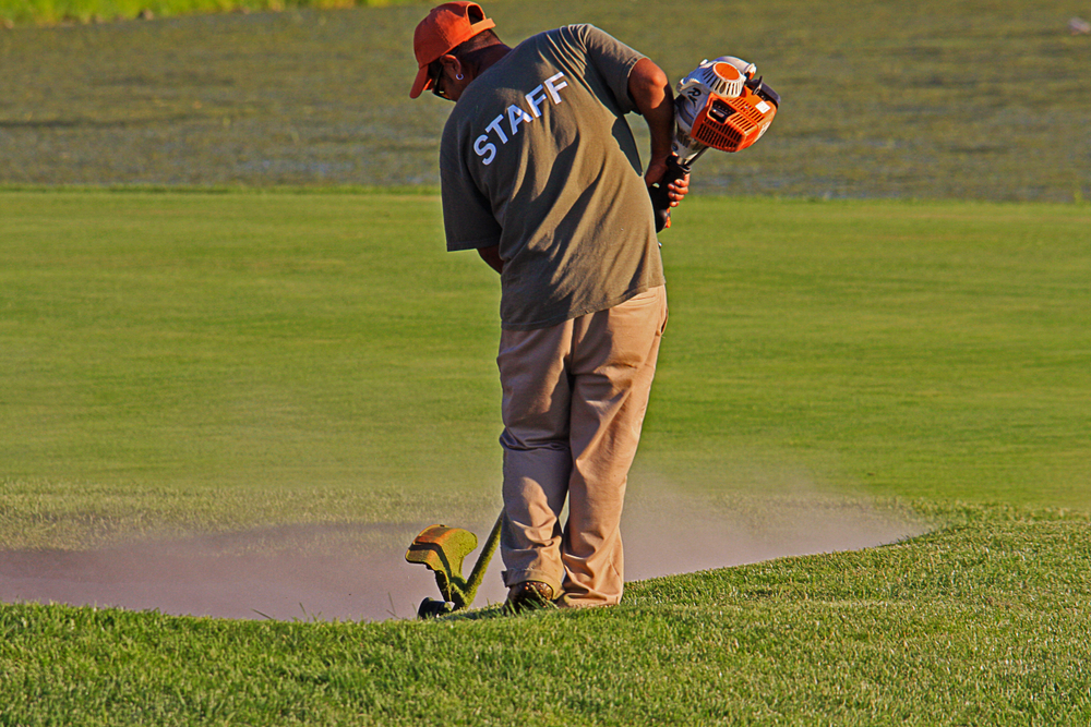 Golf course maintenance and cleaning services